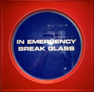 Emergency-exit-sculpture