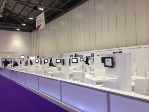 Almost empty UKTI stand at BETT